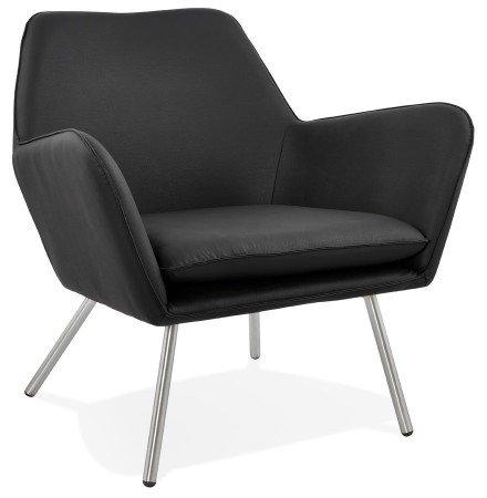 Design loungezetel AMERIKA in zwarte kunststof - Alterego