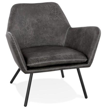 Design loungezetel 'AMERIKA' van donkergrijs, synthetisch materiaal