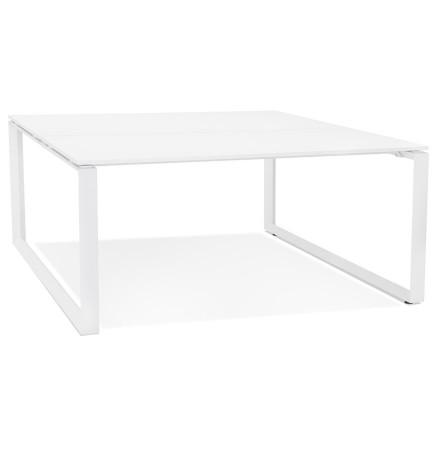 Table de réunion / bureau bench 'BAKUS SQUARE' blanc - 140x140 cm