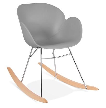 Design schommelstoel 'BASKUL' grijs van kunststof