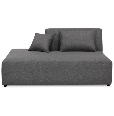 Element BELAGIO BENCH donkergrijs méridienne links - Foto 1