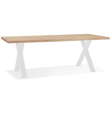 Eettafel 'BENEFIK' van eikenhout met witte poten - 200x100 cm