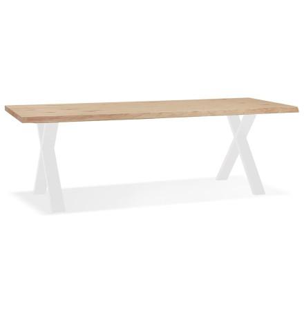 Eettafel 'BENEFIK' van eikenhout met witte poten - 260X100 CM