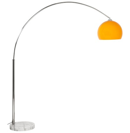 Boogvormige design lamp 'BIG BOW XL' met oranje lampenkamp