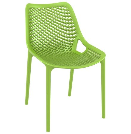 Moderne, groene stoel 'BLOW' uit kunststof