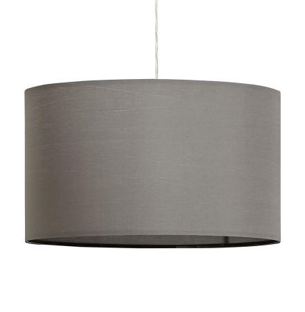 Ronde hanglamp 'BUNGEE' met grijze lampenkap