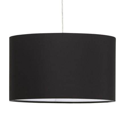 Ronde hanglamp 'BUNGEE' met zwarte lampenkap