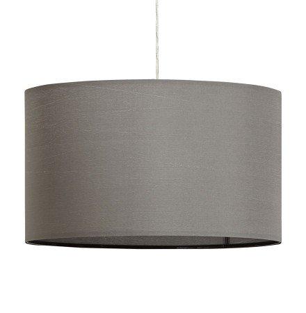 Ronde hanglamp BUNGEE met grijze lampenkap - Alterego