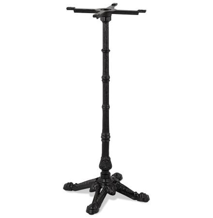Zwarte metalen tafelpoot 'CABARET' 110 in rustieke stijl