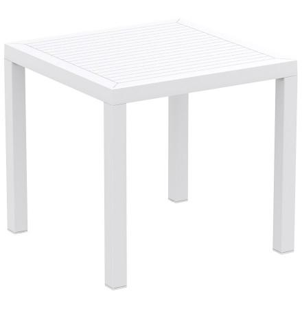 Witte design terrastafel 'CANTINA' uit kunststof - 80x80 cm