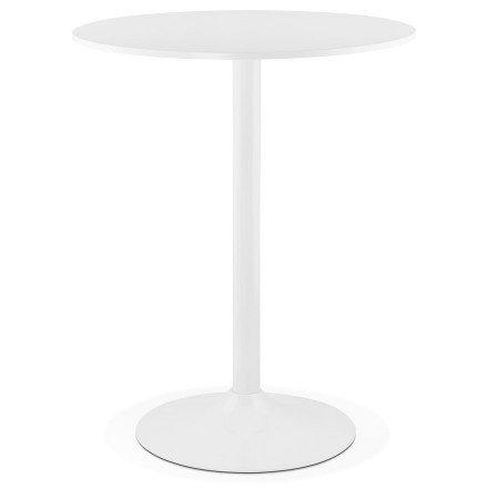 Staantafel / hoge tafel 'CARACAS' wit - Ø 90 cm