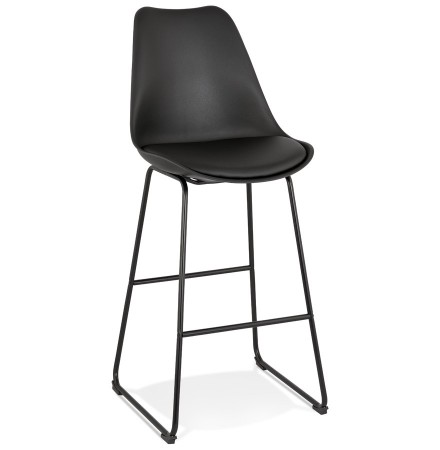 Zwarte design barkruk 'CHOKO'