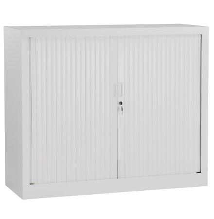 Lage kantoorkast met roldeur 'CLASSIFY' grijs - 100x120 cm