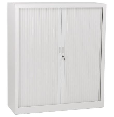 Kantoorkast met roldeur 'CLASSIFY' grijs metaal - 136x120 cm