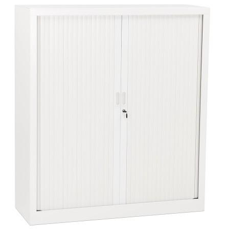 Kantoorkast met roldeur 'CLASSIFY' wit metaal - 136x120 cm