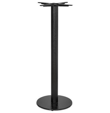 Rond tafelonderstel 'CORTADO' 110 in zwart metaal binnen-/buitenkant