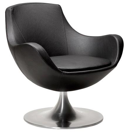 Design draaistoel COKPIT in zwart kunstleder - Alterego
