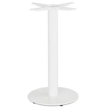 CORTADO' 75 tafel met ronde voet in wit metaal binnen/buiten
