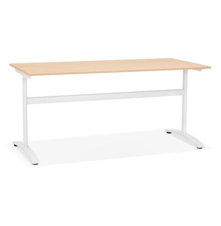 Grote rechte bureau 'CRYPTO' in hout natuurlijke afwerking - 160x80 cm