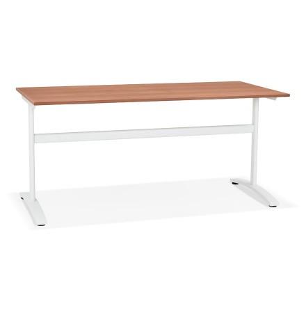 Grote rechte bureau 'CRYPTO' in Walnoot-houtafwerking - 160x80 cm