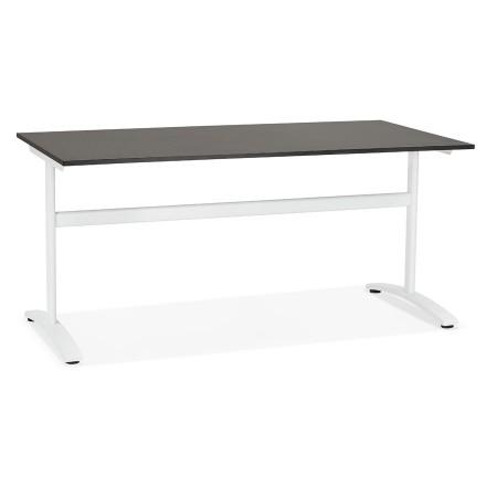 Grote rechte bureau 'CRYPTO' zwart - 160x80 cm