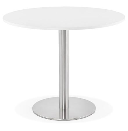 Kleine ronde bureautafel / eettafel 'DALLAS' wit - Ø 90 cm