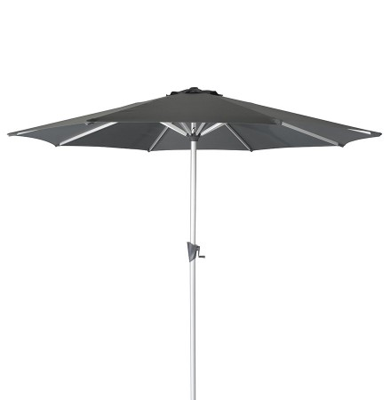 Design achthoekige parasol 'DONY' van donkergrijs aluminium - Ø 300 cm