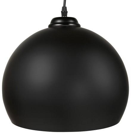 Zwarte bolvormige design hanglamp 'DOUGLAS'