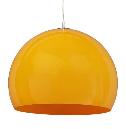 Bolvormige hanglamp ELMET van oranje kunststof - Alterego