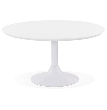 Lage loungetafel ESTRELLA wit - Ø 90 cm