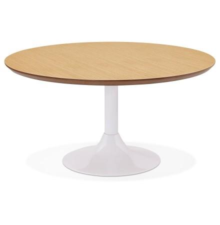 Lage loungetafel ESTRELLA met natuurlijk houten afwerking - Ø 90 cm