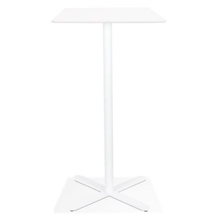 Witte vierkante hoge design tafel 'EVEREST' - 70x70 cm