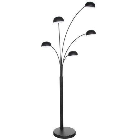 Zwarte lamp 'FIVE BOWS' met 5 armen