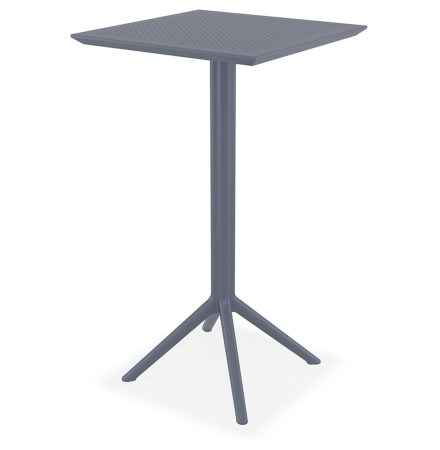 Donkergrijze vouwbare hoge tafel 'FOLY' voor binnen en buiten