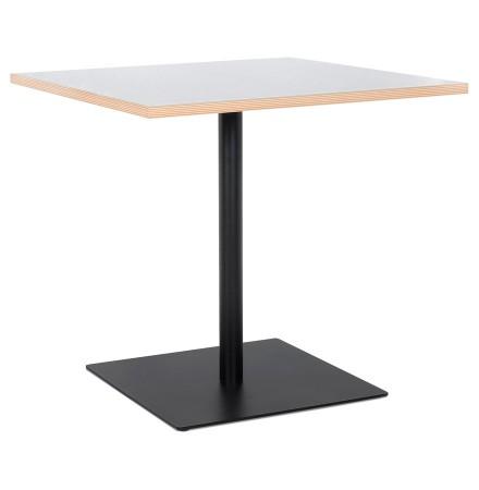 Witte vierkante tafel 'FUSION SQUARE' met zwart frame - 80x80 cm