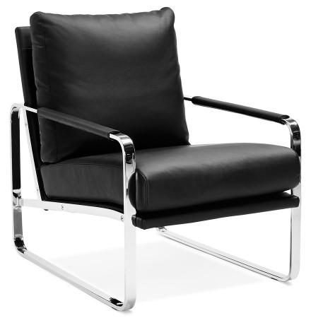 Zwarte, comfortabele loungezetel 'GEORGE'