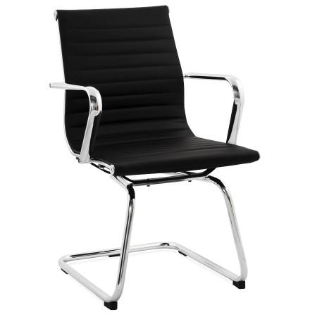 Design bureaustoel GIGA in zwart kunstleder - Alterego