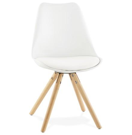 Witte, Scandinavische stoel GOUJA - Alterego