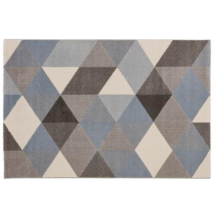 Design tapijt 'GRAFIK' 160/230 cm met blauwe grafische motieven