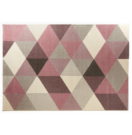 Design tapijt 'GRAFIK' 160/230 cm met roze grafische motieven - Alterego