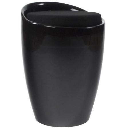 Zwart bijzetkrukje met opbergruimte 'GUM'