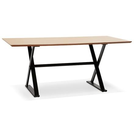 Met kruis-vormige voeten design eettafel / bureau 'HAVANA' van hout met natuurlijk afwerking - 180x90 cm