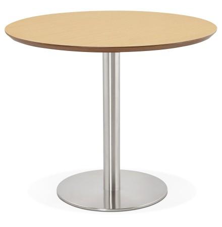 Kleine ronde bureautafel / eettafel 'INDIANA' met natuurlijk houten afwerking - Ø 90 cm