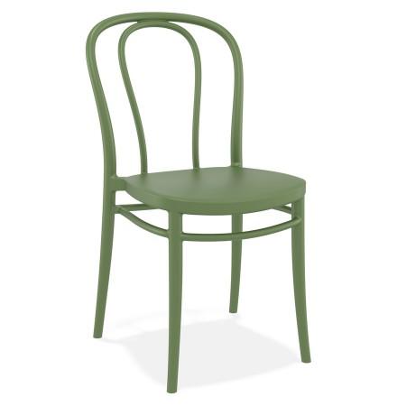 Stapelbare stoel 'JAMAR' van groene kunststof voor binnen/buiten