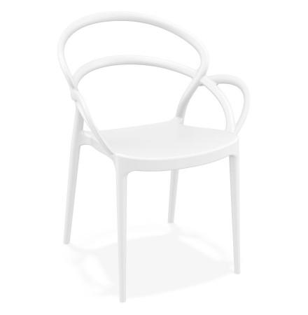 Witte design terrasstoel JULIETTE - Alterego
