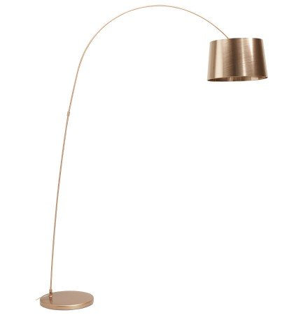 Boogvormige, copper design staanlamp KALIPSO - Alterego
