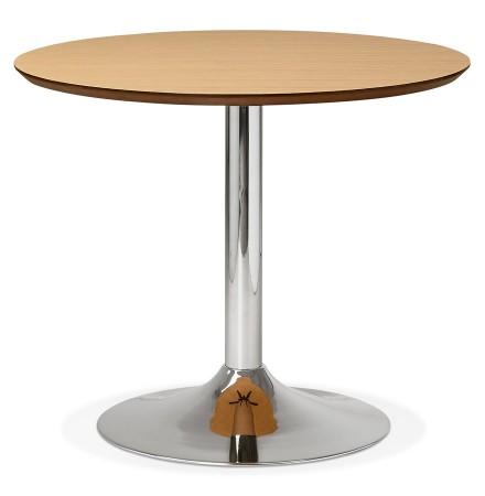Kleine ronde bureautafel / eettafel 'KITCHEN' met natuurlijk houten afwerking - Ø 90 cm