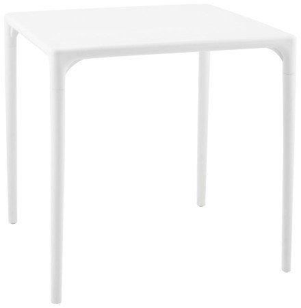 Witte design eettafel 'KUIK' - 72x72 cm
