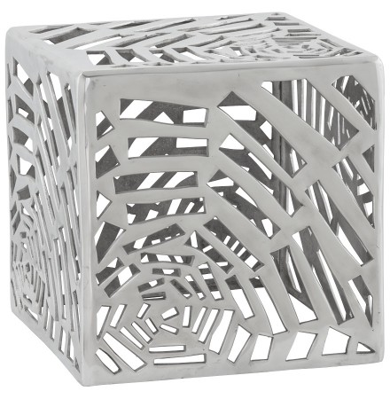 Bijzettafel 'LABA' in gepolijst aluminium