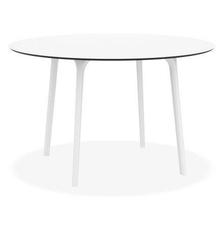 Ronde terrastafel 'LAGOON' wit voor binnen / buiten - Ø 120 cm
